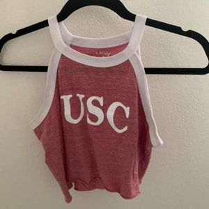 USC high neck cropped tank
